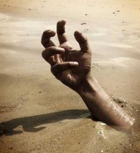 arm in quick sand